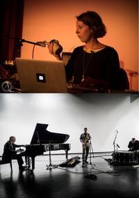 Alexandra Spence; John Tilbury, Ken Vandermark, Eddie Prevost by Peter Gannushkin