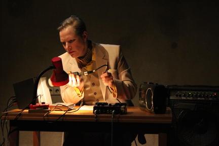 "Antonia Baehr performs Sabine Ercklentz' ""S is for Steller's Sea Cow"" © Angela Anderson"