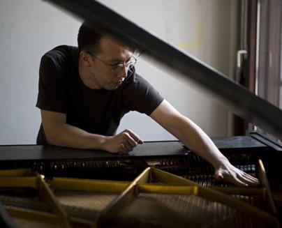 Scott Cazan at the piano